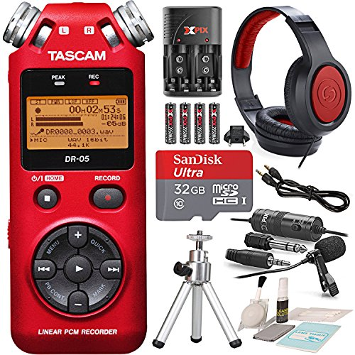 Tascam Portable Handheld Digital Audio Recorder (Red)