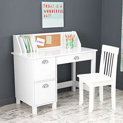 Kids Desk With Chair And Storage Set - Activity Study