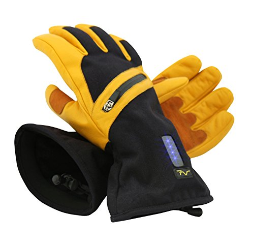 Volt Heated Work Gloves, Made of Real Leather