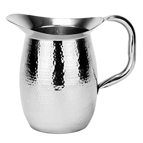 Old Dutch Double-Walled Hammered Stainless Steel Water Pitcher, 2 Qt