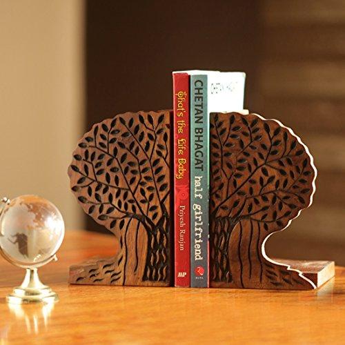 ExclusiveLane Tree Life Book End In Sheesham Wood