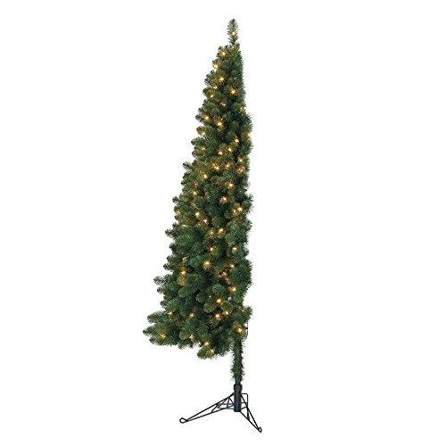 Home Heritage 7' Pre-Lit PVC Artificial Half Christmas Tree