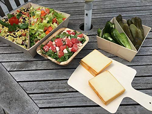 """VerTerra 8"""" x 8"""" All-Natural Cheese and Charcuterie Boards"""