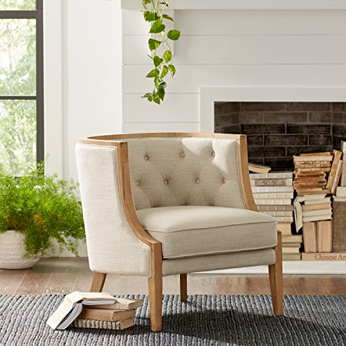 """Stone & Beam Laurel Rounded Chair, 30""""W, Sand"""