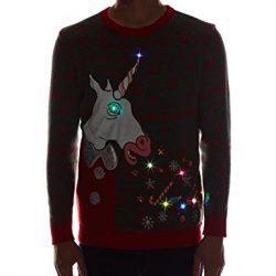 Blizzard Bay Mens Unicorn Ugly Christmas Sweater