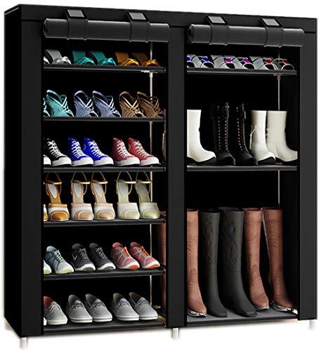 27-Pairs Portable Boot Rack Double Row Shoe Rack
