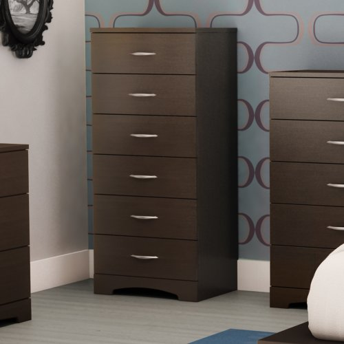 South Shore Step One 6-Drawer Dresser, Chocolate