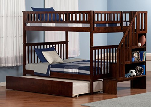 Woodland Staircase Bunk Bed with Urban Trundle