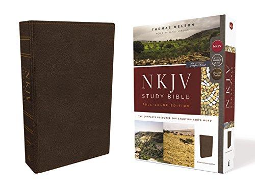 NKJV Study Bible, Premium Calfskin Leather