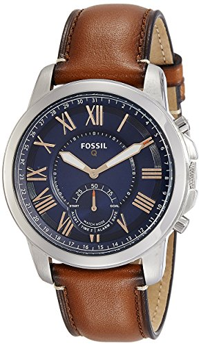 Fossil Q Men's Grant Stainless Steel and Leather