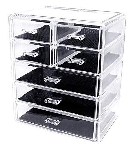 Sodynee Makeup Organizer Case Display Boxes