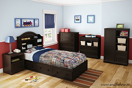 2-Drawer Changing Table with Open Storage, Espresso