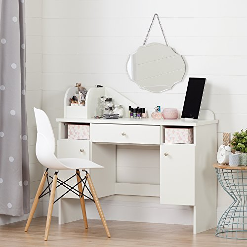 South Shore Make-up Dressing Table with 2 Doors