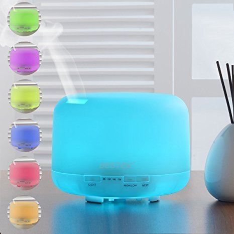 BESTEK 500ml Oil Diffuser Cool Mist Humidifier