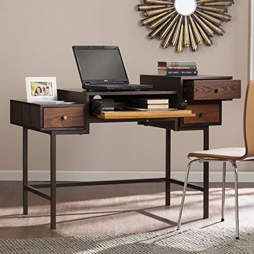 "Southern Enterprises Kedzie Multilevel Writing Desk 49"" Wide"