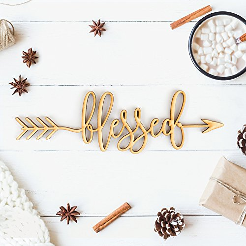 Blessed Right Arrow Wood Sign Home Decor