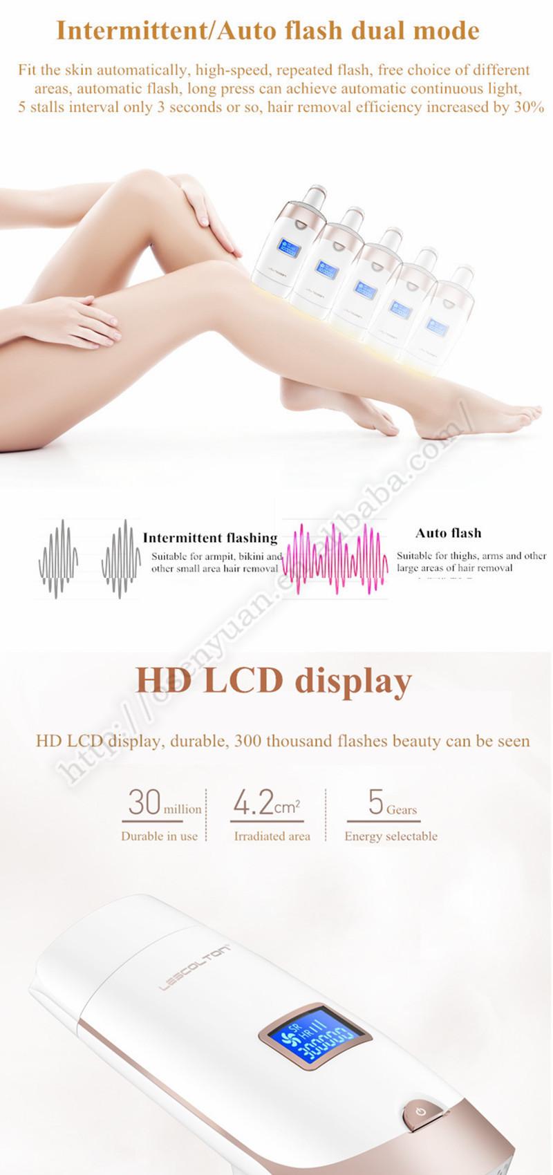 laser hair removal machine Women Epilator Household Full-body Laser Mini IPL Laser Hair Removal LCD display laser epilator 4