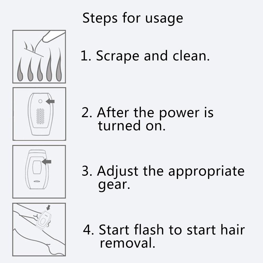Laser hair removal instrument Freezing epilator Unisex body underarm leg hair lip hair 9