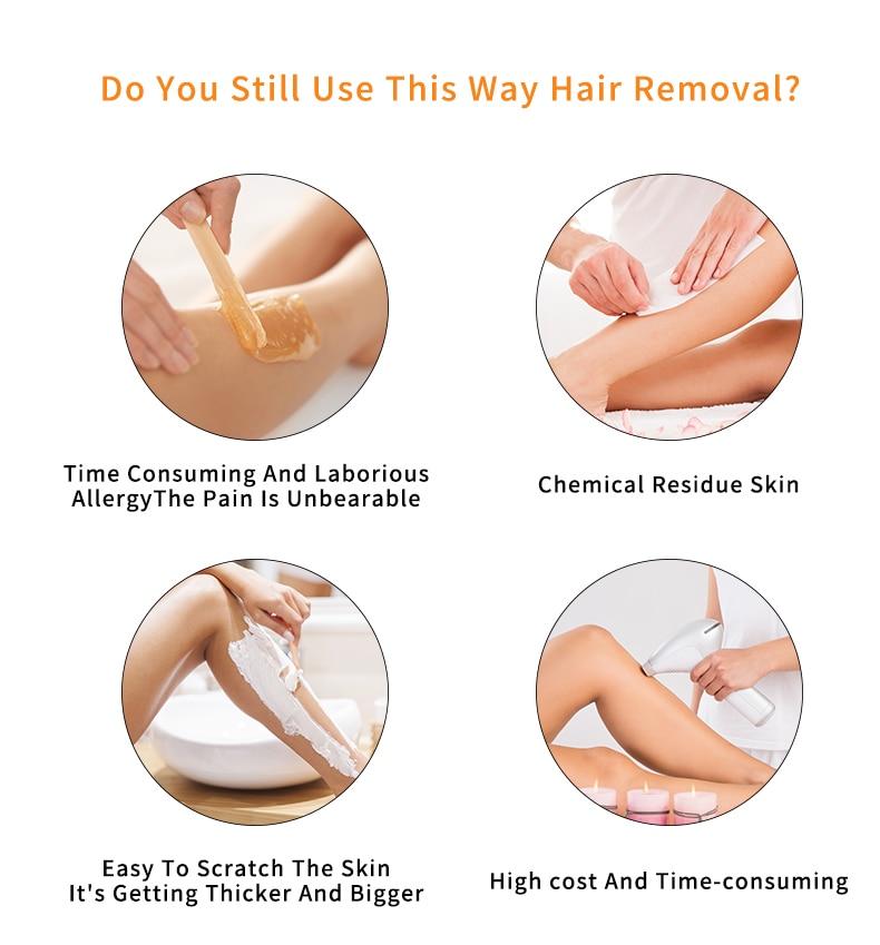 Laser Depilator Permanent Hair Removal IPL Epilator Touch Body Leg Bikini Trimmer Photoepilator For Women 2