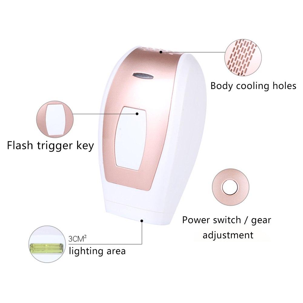 Laser hair removal instrument Freezing epilator Unisex body underarm leg hair lip hair 8
