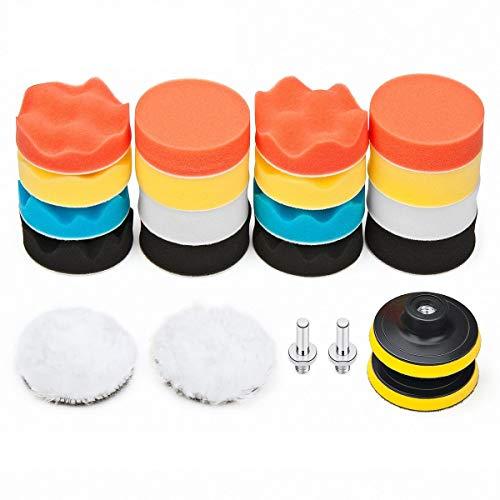 Car Foam Drill Polishing Pad Kit 22 PCS, 3 Inch