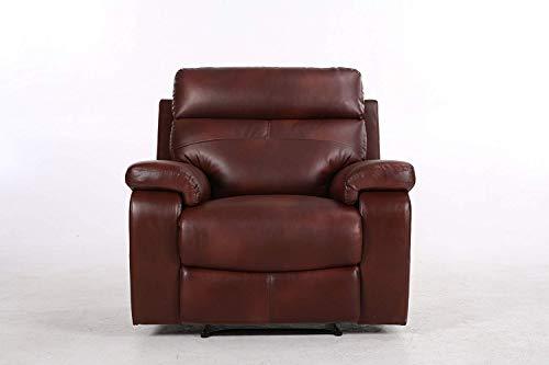 Halter Recliner Sofa, Cherry