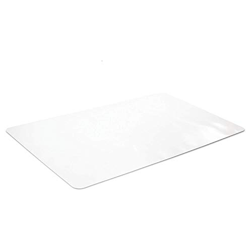 New Version Crystal Clear Desk Protector 24 x 48 Inches, Odorless Desk Pad, PVC Soft Writing Mat, Round Corners, Shipped Flat