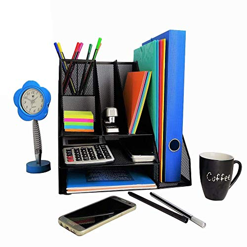 Desk Organizer, File Holder for Organising Home Office & School Supplies