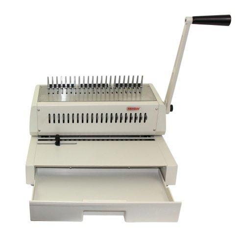 Tamerica 210PB Manual Comb Binding Machine, 20 Sheets Max. Punch Capacity