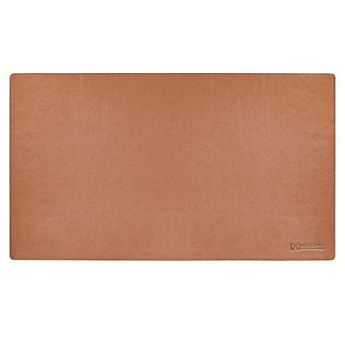 """TOP RATED - Modeska 24""""x14"""" Leather Desk Pad - Executive Blotter and Protective Mat - Mouse Pad - Brown"""