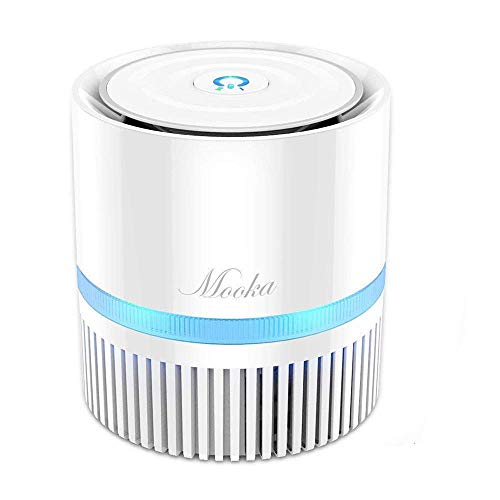 MOOKA Air Purifier, Air Cleaner with 3-in-1 True HEPA Filter for Home and Office