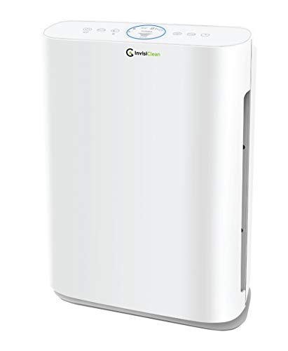 InvisiClean Sensa Air Purifier for Home with Auto Sensing Air Quality Monitor for Bedrooms, Allergies & Pets, Large Rooms, Pollen, Dust, Mold, Allergens, Ultra Quiet Operation, True HEPA - IC-5120