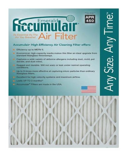 Accumulair MERV 6 Rating Air Filter/Furnace Filters