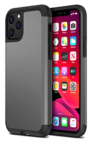 Protanium Case Designed for Apple iPhone 11 Pro Case (2019) (5.8-inch) Heavy Duty Protection/Shock Absorption/Dual Layer TPU/Rigid Back Armor/Scratch Resistant/Reinforced Corner Frame - Gunmetal