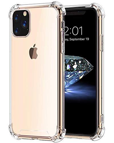 Bangbreak iPhone 11 Pro Max Case iPhone 2019 6.5 inch Soft TPU Shock Absorption. iPhone 11 Pro Max Case. Anti-Scratch. Cover Case Crystal Super Clear 2019