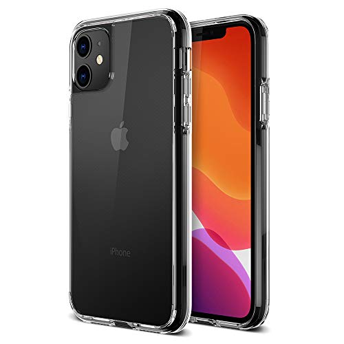 """Trianium Clarium Series Designed for Apple iPhone 11 Case (2019, 6.1""""), TPU Cushion Frame Protection Case and Hybrid Rigid Backing Cover (Work with Most Screen Protector) - Clear"""