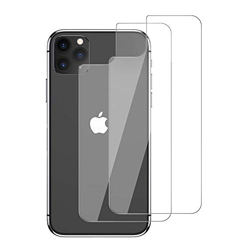 Ruky iPhone 11 Pro Max Back Screen Protector [2-Pack], Anti-Scratch, No-Bubble, Anti-Fingerprint, [3D Touch] Back Tempered Glass Screen Protector Rear Film for iPhone 11 Pro Max 6.5 inches
