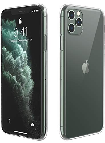 Temdan iPhone 11 Pro Case, HD Clear Ultra Thin Slim Fit Soft TPU Protective Clear Case Shock-Absorption Anti-Scratch Compatible Cover Cases for iPhone 11 Pro 5.8 inch 2019-Clear