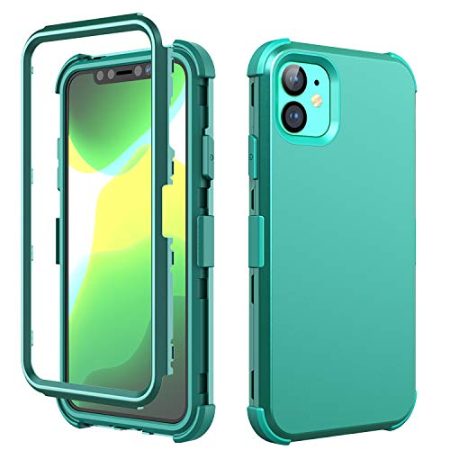 iPhone 11 Case,SKYLMW Hybrid Three Layer Shock-Absorption with Hard PC Soft Silicone Protective Cover for iPhone 11 6.1 inch 2019,Green