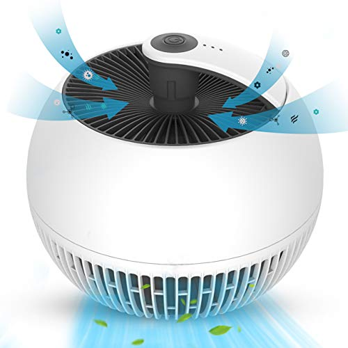 Air Purifier for Home - 3-in-1 True HEPA Filter Air Cleaner with 3 Fan Speeds, 3 Stage Filtration, Super Quite, Compact Size,Reduce Dust Particles Pet Dander Pollen Odor Eliminator