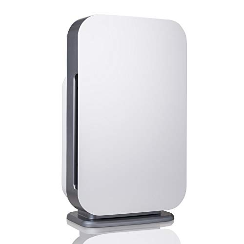Alen BreatheSmart 45i Air Purifier with Smart Sensor for Large Rooms up to 800 Sqft, Removes Allergens, Pollen, Dust Dander, While Eliminates Bacteria, Germs, Mold, Odor from Smoke, in White