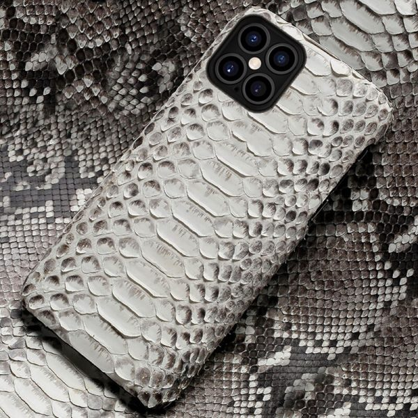Python Leather Phone Case For iPhone 12 Pro Max