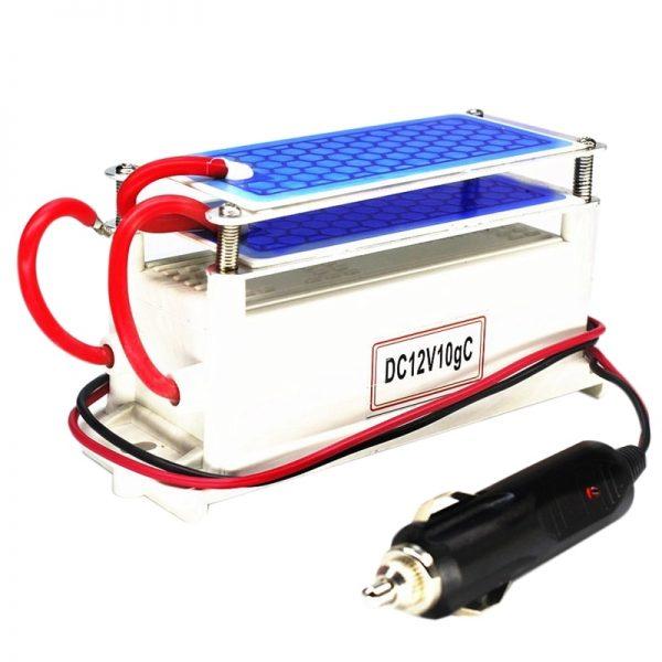 Ozone Generator Car 12V 10G Portable Ceramic Plate Air Purifier