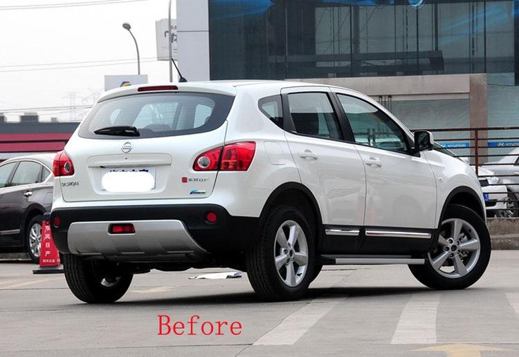 For Nissan qashqai j10 dualis 2013 2012 2011 2010 2008 2 1.6 chrome Rear Tail Fog Light cover rear fog lamp Trim accessories (1)